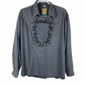 Wah Maker Western Frontier Clothing Bib Shirt L